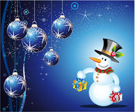 Snowman Christmas Card Stock Image