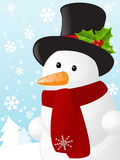 Snowman Christmas card. Christmas card with cute snowman Royalty Free Stock Images