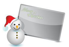 Snowman christmas card illustration design Stock Image