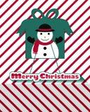 Snowman christmas card Royalty Free Stock Photo