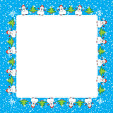 Snowman Christmas card template Stock Photos