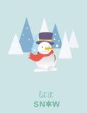 Snowman christmas card.Vector illustration. Snowman christmas card.Vector illustration Stock Image