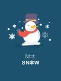 Snowman christmas card.Vector illustration. Snowman christmas card.Vector illustration Stock Images