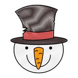 Snowman christmas character icon. Vector illustration design Stock Photos