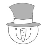 Snowman christmas character icon. Vector illustration design Stock Photo