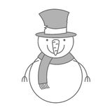 Snowman christmas character icon. Vector illustration design Stock Photography