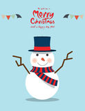 Snowman (Christmas Characters) Royalty Free Stock Photography