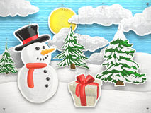 Snowman at Christmas Royalty Free Stock Images