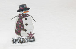 Snowman Christmas Decoration Stock Image