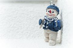 Snowman for christmas decoration. Closeup of snowman for christmas decoration Royalty Free Stock Images