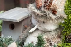 Snowman for christmas decoration. Closeup of snowman for christmas decoration Stock Photography