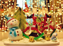 Snowman Christmas decoration. Colourful of Snowman Christmas decoration stock photos