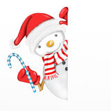 Snowman with Christmas decoration Royalty Free Stock Photo