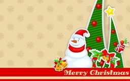 Snowman with Christmas decoration Stock Photo