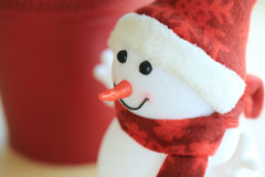 Snowman christmas decoration in home Stock Images