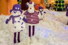 Snowman and christmas Stock Image