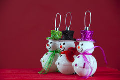Snowman christmas decoration Stock Photo
