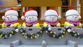 Snowman christmas decorations Stock Photo