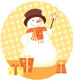 Snowman christmas gifts Royalty Free Stock Images