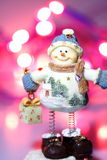 Snowman Christmas lights A Stock Photography