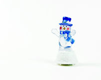 Snowman. Christmas new year holiday fun blue white scarf decoration decor stock photos