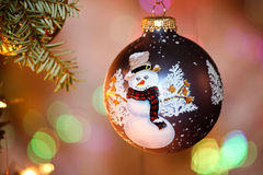 Snowman Christmas ornament Royalty Free Stock Photography