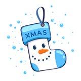 Snowman Christmas Socks Hanging Decoration Stock Photos