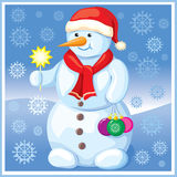 Snowman with Christmas toys Stock Photography