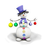 Snowman with Christmas toys Royalty Free Stock Photo