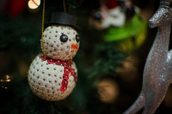 Snowman Christmas Tree Decoration Royalty Free Stock Images
