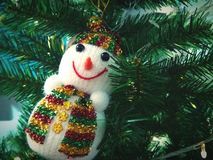 Snowman on Christmas tree. S Stock Images