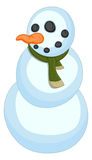 Snowman - Christmas Vector Illustration Royalty Free Stock Photography