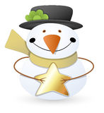 Snowman - Christmas Vector Illustration Stock Photos