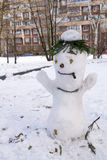 Snowman with cigar Royalty Free Stock Photo