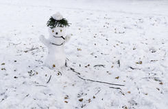 Snowman with cigar Stock Photos