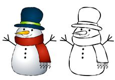 Snowman Clip Art Stock Photo