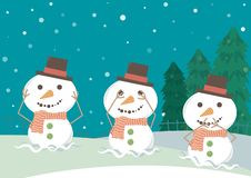 Snowman Close Ears Eyes Mouth royalty free illustration