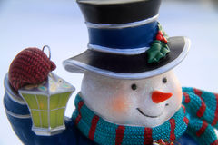 Snowman close up Royalty Free Stock Photo