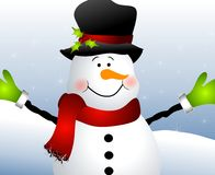 Snowman Close Up Royalty Free Stock Photography