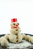 Snowman coconut cookie Stock Photography