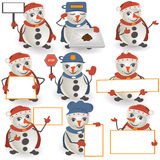 Snowman collection Stock Photos