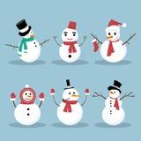 Snowman Collection Stock Photos