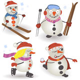 Snowman collection Royalty Free Stock Photography