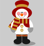 Snowman color 03. Vector. Smile snowman in color 03 royalty free illustration