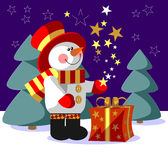 Snowman color 05 Royalty Free Stock Images