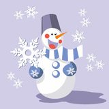 Snowman color 08 Stock Images