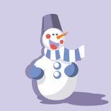 Snowman color 09 Stock Photos