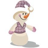 Snowman color 13. Cartoon Snowman in color 13 Royalty Free Illustration