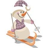 Snowman color 15. Cartoon Snowman in color 15 stock illustration