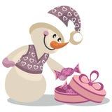 Snowman color 16. Cartoon Snowman in color 16 Royalty Free Stock Photos